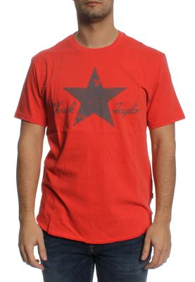 Converse T-Shirt Men WASHED REFLECTIVE 10001078 Rot 603 – Bild 0