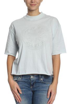 Converse Raglan Shirt Women EMBOSSED CP MOCK 10001229 Hellblau 455 – Bild 0