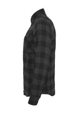 Urban Classics Checked Flanell Shirt TB297 Black Charcoal – Bild 3
