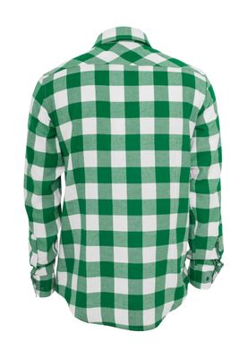 Urban Classics Checked Flanell Shirt TB297 White Green – Bild 1