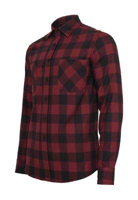 Urban Classics Checked Flanell Shirt TB297 Black Burgundy – Bild 1