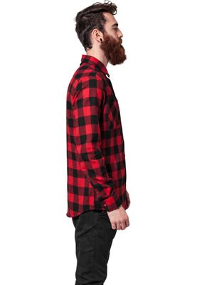 Urban Classics Checked Flanell Shirt TB297 Black Red – Bild 3