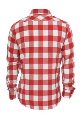Urban Classics Checked Flanell Shirt TB297 White Red – Bild 1