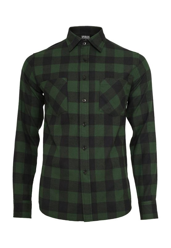 Urban Classics Checked Flanell Shirt TB297 Black Forest Ansicht
