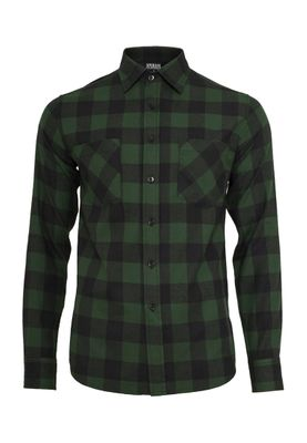 Urban Classics Checked Flanell Shirt TB297 Black Forest – Bild 0