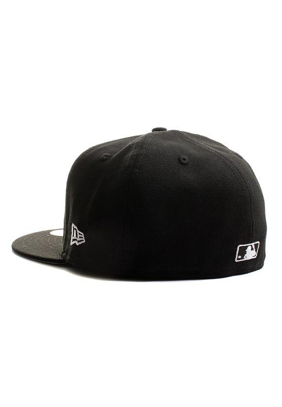 New Era Mlblog 59Fifty Cap MLB BASIC LOGO Schwarz Weiß – Bild 1