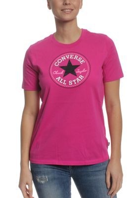 Converse T-Shirt Women CORE SOLID CHUCK PATCH 10001124 Pink 522 – Bild 0