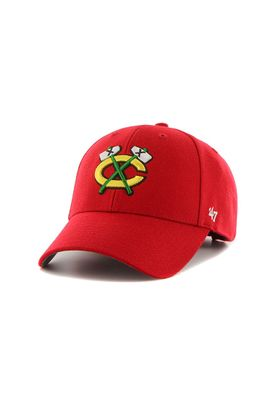 47 Brand MVP04 Adjustable Cap CHICAGO BLACKHAWKS Rot – Bild 0