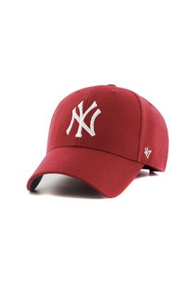 47 Brand MVP17 Adjustable Cap NY YANKEES Rot Weiß – Bild 0
