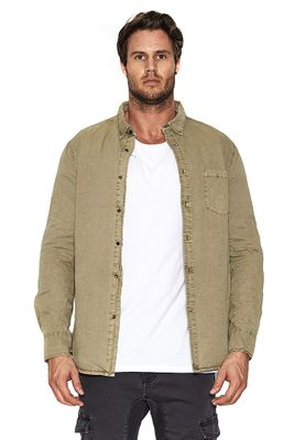 Nena & Pasadena Hemd Men AIRWOLF Khaki – Bild 0