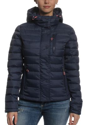 Superdry Steppjacke Women FUJI SLIM DOUBLE ZIP HOOD Navy Marl – Bild 0