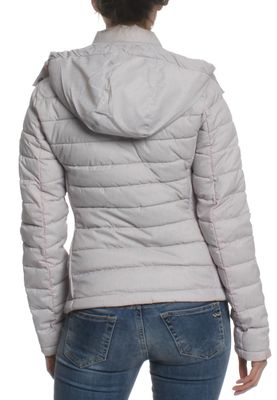 Superdry Steppjacke Women FUJI SLIM DOUBLE ZIP HOOD Light Grey Marl – Bild 1