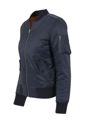 Urban Classics Ladies Basic Bomber Jacket TB807 Navy – Bild 1