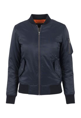 Urban Classics Ladies Basic Bomber Jacket TB807 Navy – Bild 0