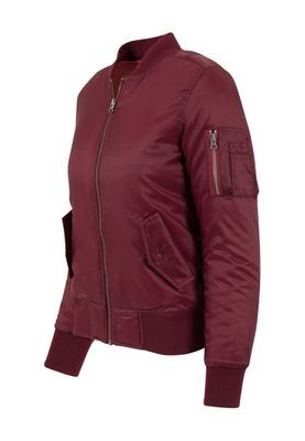 Urban Classics Ladies Basic Bomber Jacket TB807 Burgundy – Bild 1