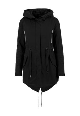 Urban Classics Ladies Sherpa Lined Cotton Parka TB1370 Black – Bild 0