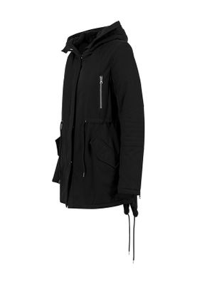 Urban Classics Ladies Sherpa Lined Cotton Parka TB1370 Black – Bild 1