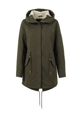 Urban Classics Ladies Sherpa Lined Cotton Parka TB1370 Olive – Bild 0