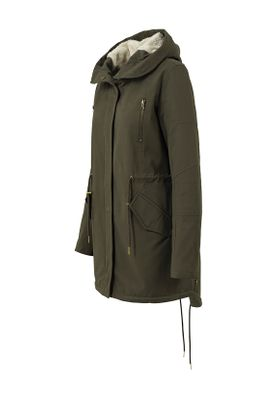 Urban Classics Ladies Sherpa Lined Cotton Parka TB1370 Olive – Bild 1