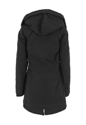 Urban Classics Ladies Garment Washed Long Parka TB1088 Black – Bild 3