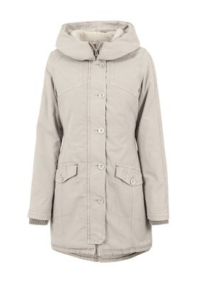 Urban Classics Ladies Garment Washed Long Parka TB1088 Sand – Bild 0