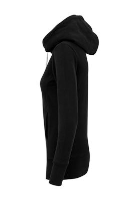 Urban Classics Ladies Long Logopatch Hoody TB1328 Black – Bild 3