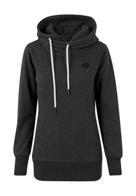 Urban Classics Ladies Long Logopatch Hoody TB1328 Charcoal – Bild 0