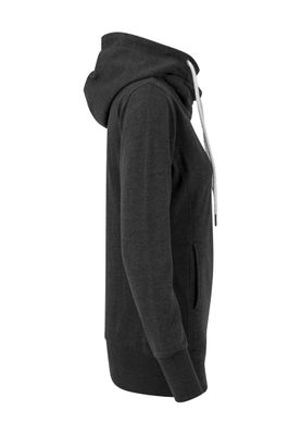 Urban Classics Ladies Long Logopatch Hoody TB1328 Charcoal – Bild 2
