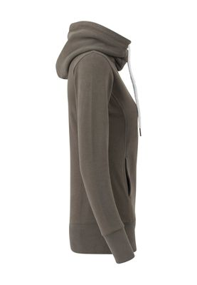 Urban Classics Ladies Long Logopatch Hoody TB1328 Olive – Bild 2