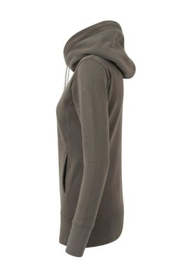 Urban Classics Ladies Long Logopatch Hoody TB1328 Olive – Bild 3