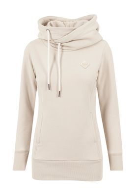 Urban Classics Ladies Long Logopatch Hoody TB1328 Sand – Bild 0