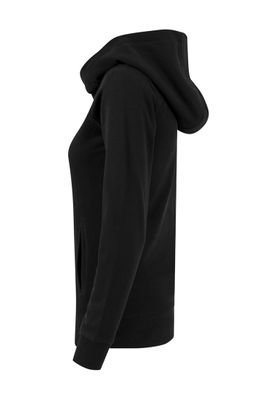 Urban Classics Ladies High Neck Hoody TB1327 Black – Bild 3