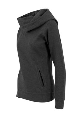 Urban Classics Ladies High Neck Hoody TB1327 Charcoal – Bild 1