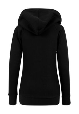 Urban Classics Ladies High Neck Raglan Hoody TB1526 Black – Bild 2