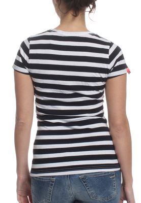 Superdry T-Shirt Women VINTAGE LOGO STRIPE Navy Stripe – Bild 1