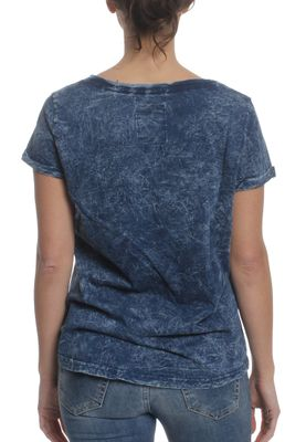 Superdry T-Shirt Women WEST COAST BF Bolivia Blue Indigo – Bild 1