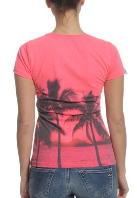 Superdry T-Shirt Women PHOTOGRAPHIC ENTRY Pink Neon Marl – Bild 1