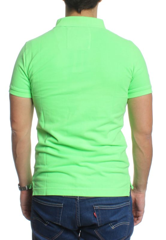 Superdry Polo Men VINTAGE DESTROY SS PIQUE POLO Lime Green – Bild 2