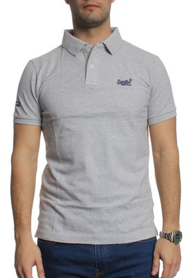 Superdry Polo Men CLASSIC NEW FIT PIQUE POLO Silver Heather Marl – Bild 0