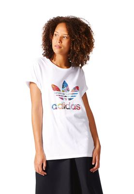 Adidas T-Shirt Women GRAPHIC TEE BK2367 Weiß – Bild 2