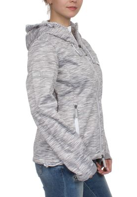Superdry Softshelljacke Women HOODED WINDTREKKER Light Grey Slub Winter White – Bild 2