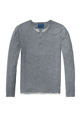 Scotch & Soda Longsleeve Men FAUX DOUBLE LAYER 136426 Grau 0810