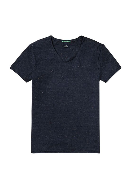Scotch & Soda T-Shirt Men NEPPED V NECK 136511 Schwarz 0686
