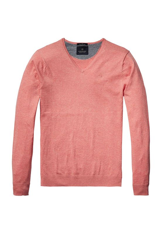 Scotch & Soda Pullover Men CLASSIC V NECK 136541 Rosa 1282