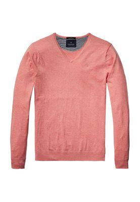 Scotch & Soda Pullover Men CLASSIC V NECK 136541 Rosa 1282
