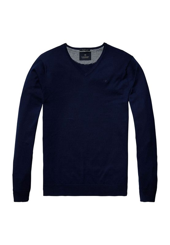 Scotch & Soda Pullover Men CLASSIC V NECK 136541 Dunkelblau 0004