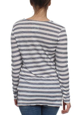 Superdry Longsleeve Women NAUTICAL STEP HEM Black Ecru Twist Stripe – Bild 1