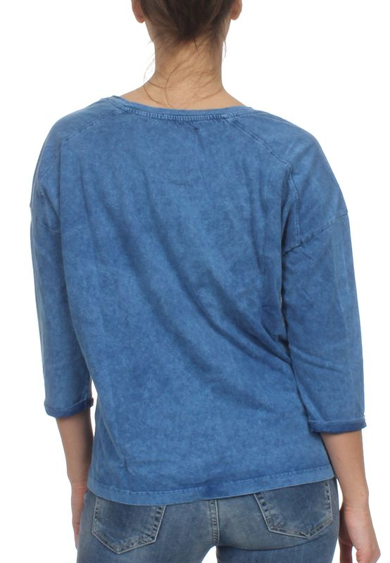 Superdry Top Women MARINE SLOUCH TOP Wave Washed Blue – Bild 1