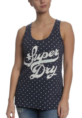 Superdry Tank Women TRADE MARKD ENTRY VEST Princeton Blue Marl Dot – Bild 0