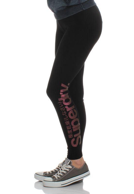 Superdry Leggings Women GLITTER LOGO LEGGING Black – Bild 0